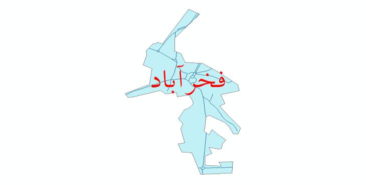 دانلود نقشه شیپ فایل شبکه معابر شهر فخرآباد سال 1399
