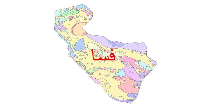 دانلود نقشه شیپ فایل زمین شناسی شهرستان فسا