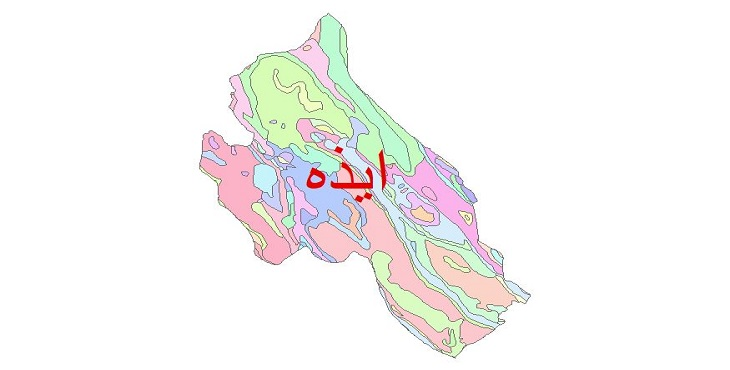دانلود نقشه شیپ فایل زمین شناسی شهرستان ایذه