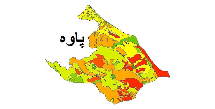 شیپ فایل کاربری اراضی شهرستان پاوه