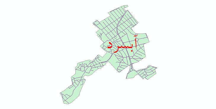 دانلود نقشه شیپ فایل شبکه معابر شهر آبسرد سال 1399