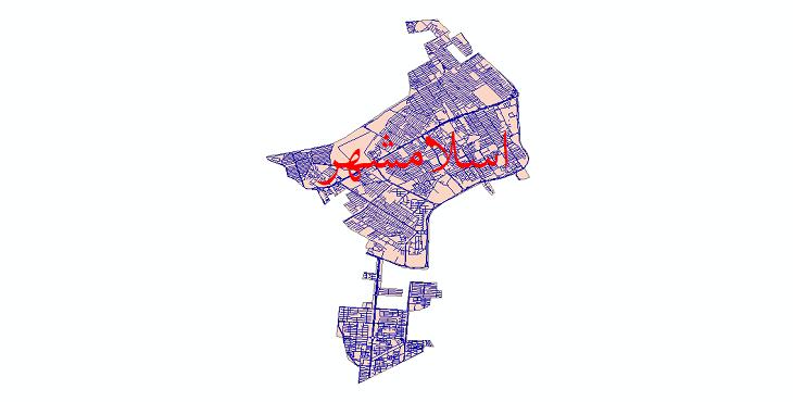 دانلود نقشه شیپ فایل شبکه معابر شهر اسلامشهر سال 1399