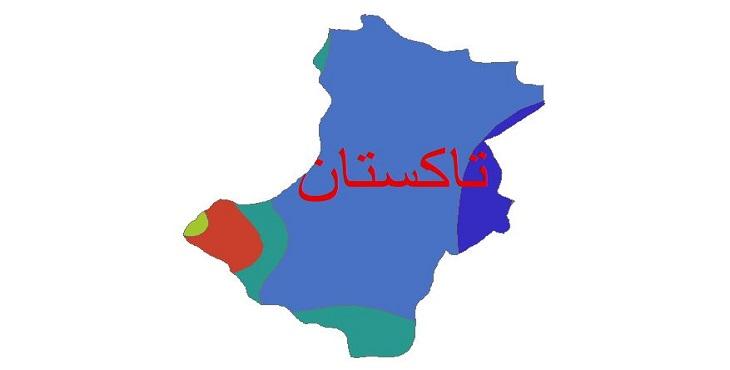 دانلود شیپ فایل اقلیمی شهرستان تاکستان