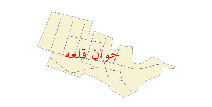 دانلود نقشه شیپ فایل شبکه معابر شهر جوان قلعه سال 1399