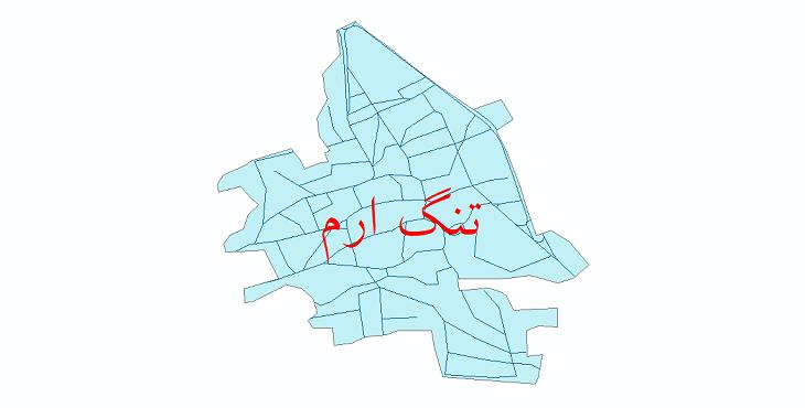 دانلود نقشه شیپ فایل شبکه معابر شهر تنگ ارم سال 1399