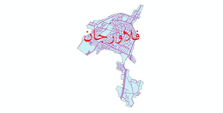 دانلود نقشه شیپ فایل شبکه معابر شهر فلاورجان سال 1399