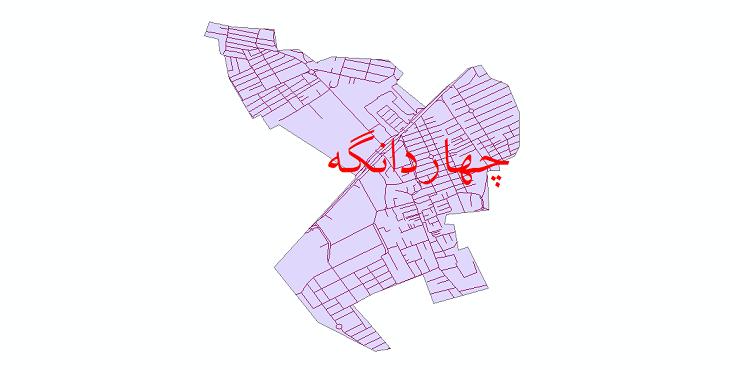 دانلود نقشه شیپ فایل شبکه معابر شهر چهاردانگه سال 1399