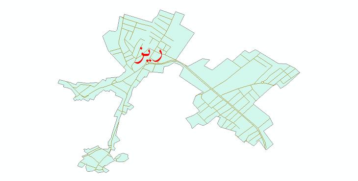دانلود نقشه شیپ فایل شبکه معابر شهر ریز سال 1399