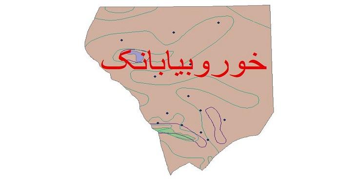 دانلود شیپ فایل اقلیمی شهرستان خور و بیابانک