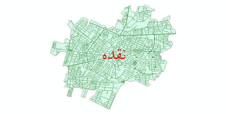 دانلود نقشه شیپ فایل شبکه معابر شهر نقده سال 1399