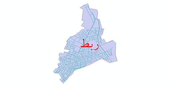 دانلود نقشه شیپ فایل شبکه معابر شهر ربط سال 1399