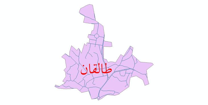 دانلود نقشه شیپ فایل شبکه معابر شهر طالقان سال 1399