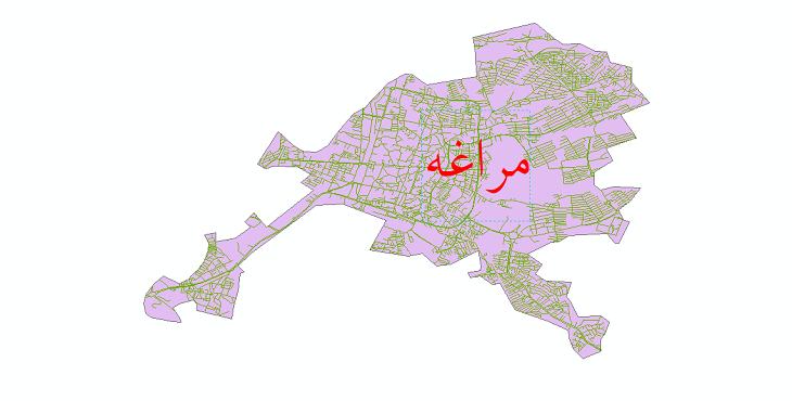 دانلود نقشه شیپ فایل شبکه معابر شهر مراغه سال 1399