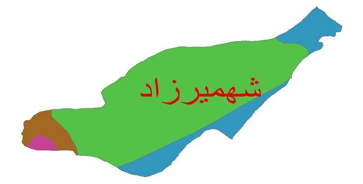 دانلود شیپ فایل اقلیمی شهرستان شهمیرزاد
