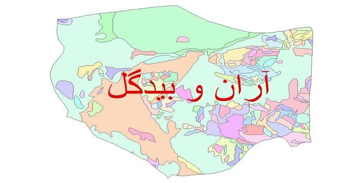 دانلود نقشه شیپ فایل زمین شناسی شهرستان آران و بیدگل