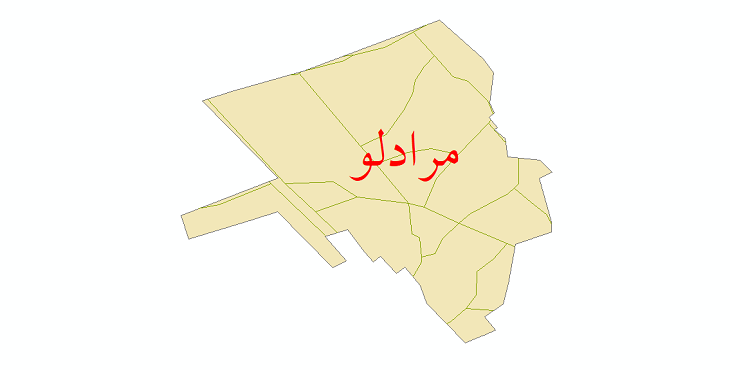 دانلود نقشه شیپ فایل شبکه معابر شهر مرادلو سال 1399