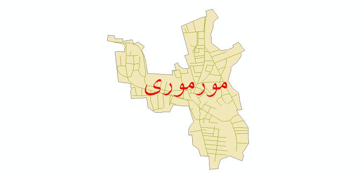 دانلود نقشه شیپ فایل شبکه معابر شهر مورموری سال 1399