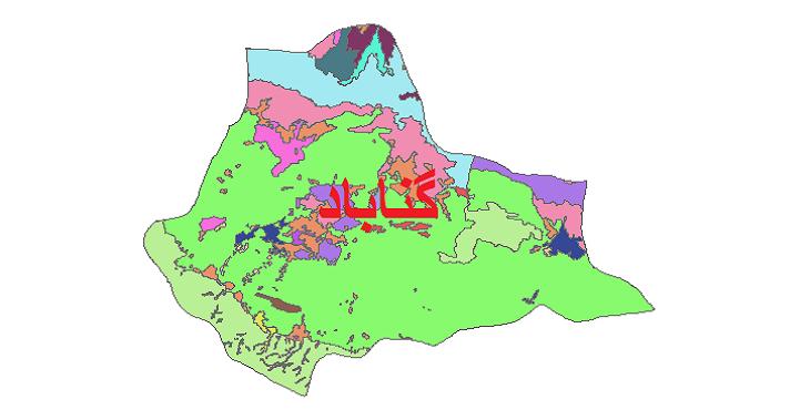 شیپ فایل کاربری اراضی شهرستان گناباد