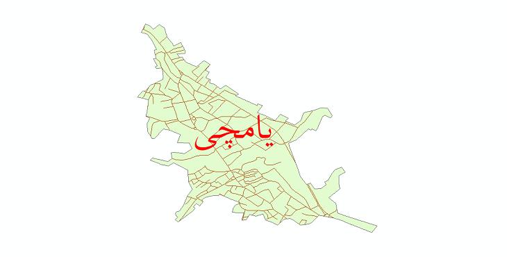 دانلود نقشه شیپ فایل شبکه معابر شهر یامچی سال 1399