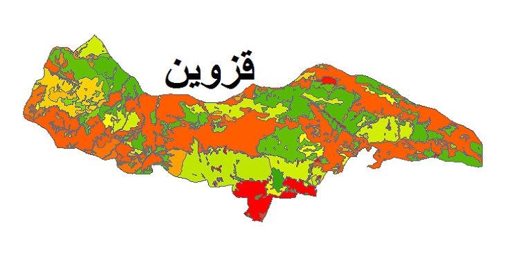شیپ فایل کاربری اراضی شهرستان قزوین