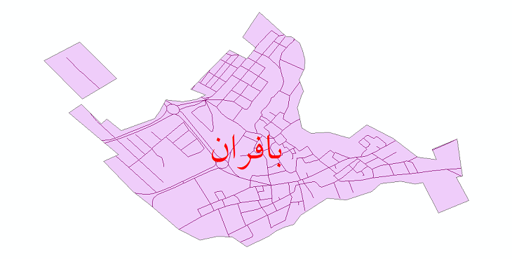دانلود نقشه شیپ فایل شبکه معابر شهر بافران سال 1399