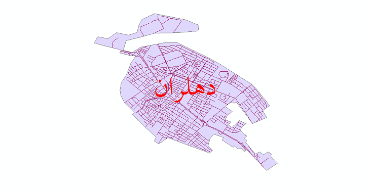 دانلود نقشه شیپ فایل شبکه معابر شهر دهلران سال 1399