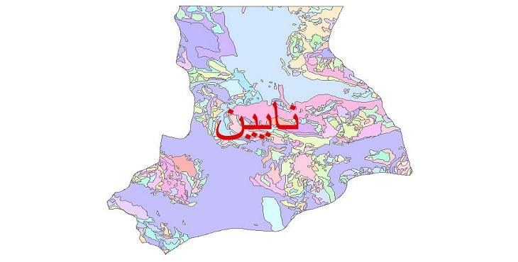 دانلود نقشه شیپ فایل زمین شناسی شهرستان نایین