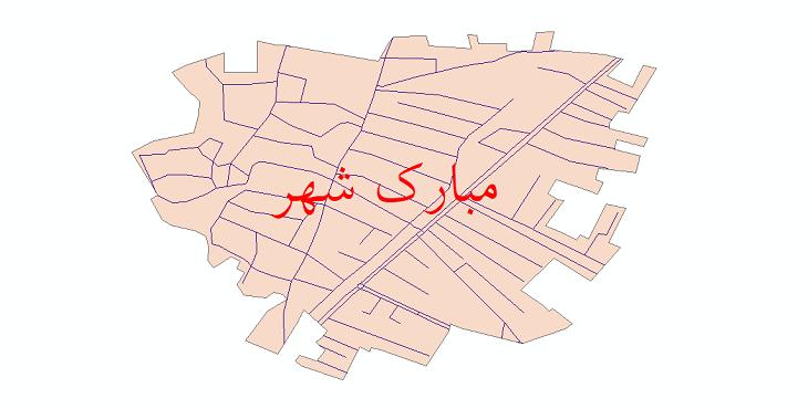 دانلود نقشه شیپ فایل شبکه معابر شهر مبارک شهر سال 1399