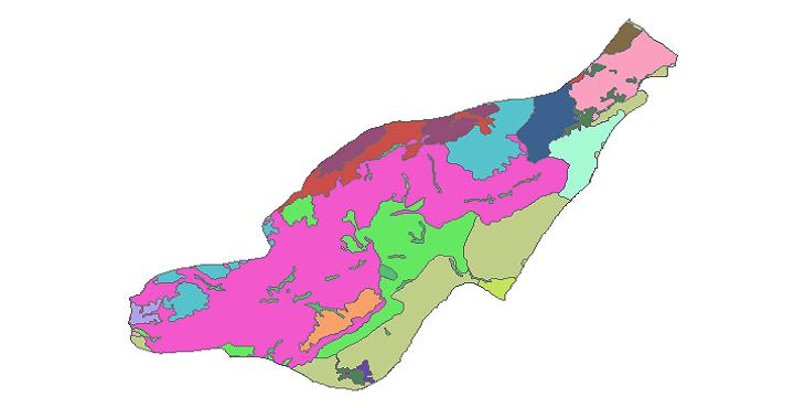 شیپ فایل کاربری اراضی شهرستان شهمیرزاد