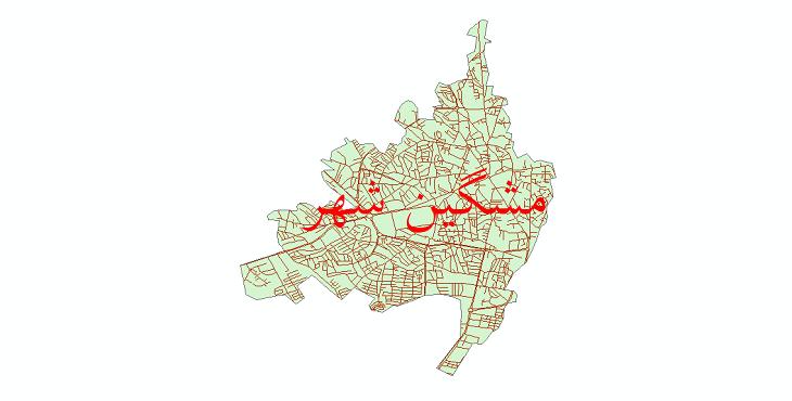 دانلود نقشه شیپ فایل شبکه معابر شهر مشگین شهر سال 1399