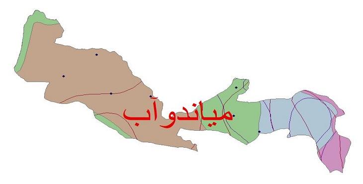 دانلود شیپ فایل اقلیمی شهرستان میاندوآب