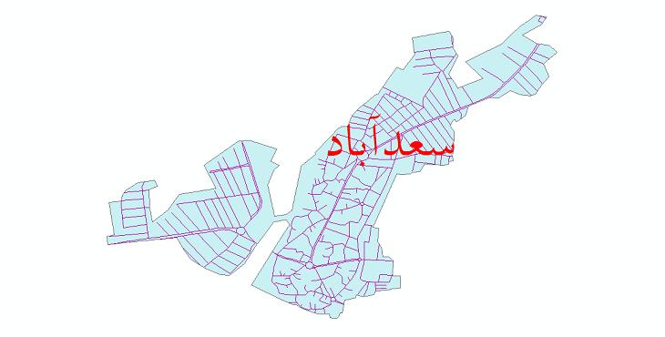 دانلود نقشه شیپ فایل شبکه معابر شهر سعدآباد سال 1399