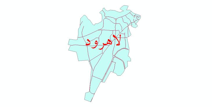 دانلود نقشه شیپ فایل شبکه معابر شهر لاهرود سال 1399
