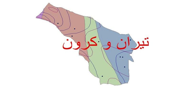دانلود شیپ فایل اقلیمی شهرستان تیران و کرون