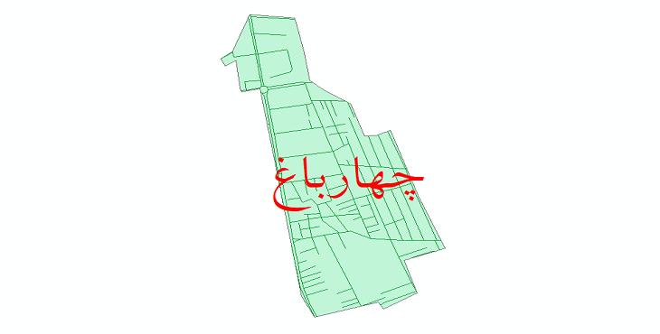 دانلود نقشه شیپ فایل شبکه معابر شهر چهارباغ سال 1399