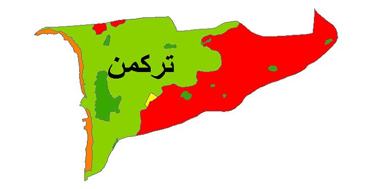 شیپ فایل کاربری اراضی شهرستان ترکمن