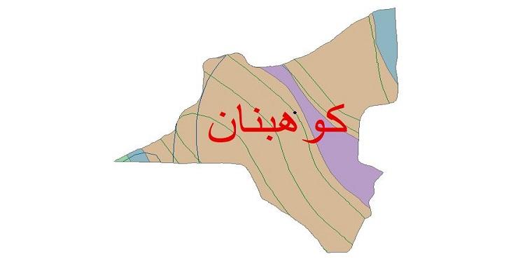 دانلود شیپ فایل اقلیمی شهرستان کوهبنان