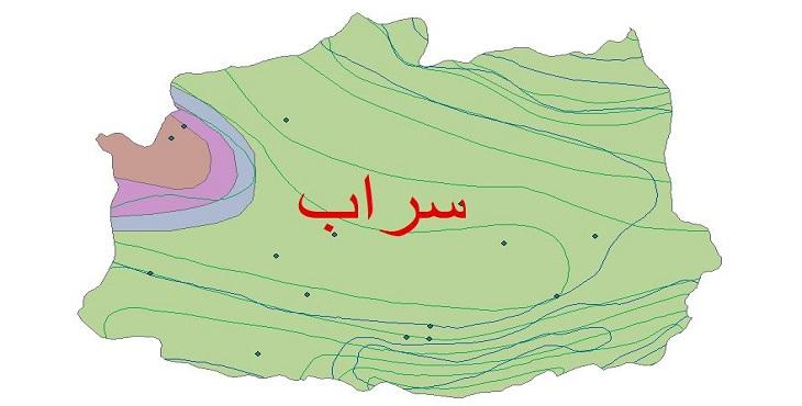 دانلود شیپ فایل اقلیمی شهرستان سراب