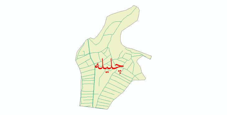 دانلود نقشه شیپ فایل شبکه معابر شهر چلیله سال 1399