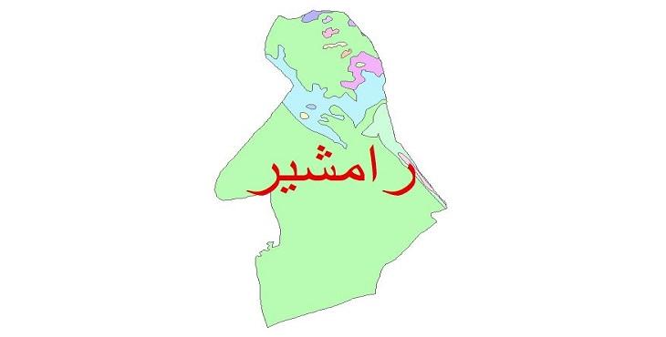 دانلود نقشه شیپ فایل زمین شناسی شهرستان رامشیر