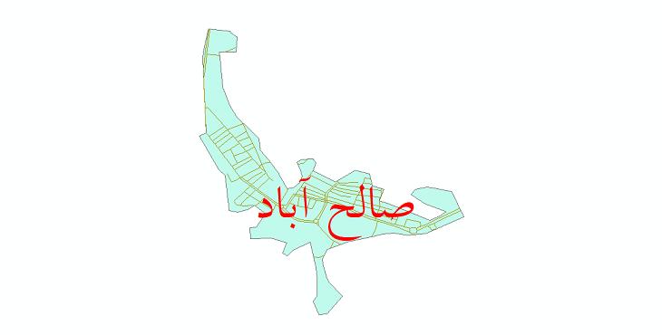 دانلود نقشه شیپ فایل شبکه معابر شهر صالح آباد سال 1399