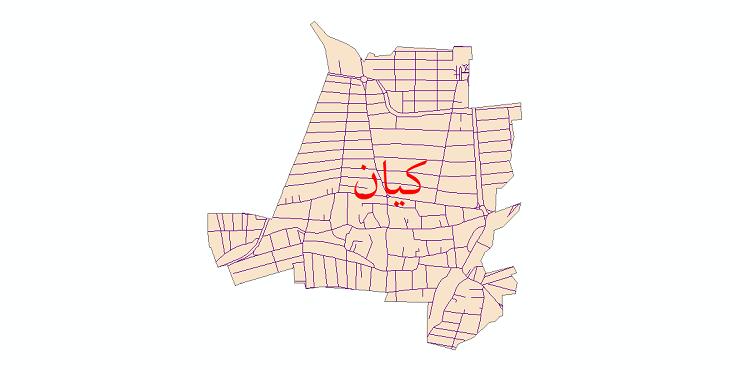 دانلود نقشه شیپ فایل شبکه معابر شهر کیان سال 1399