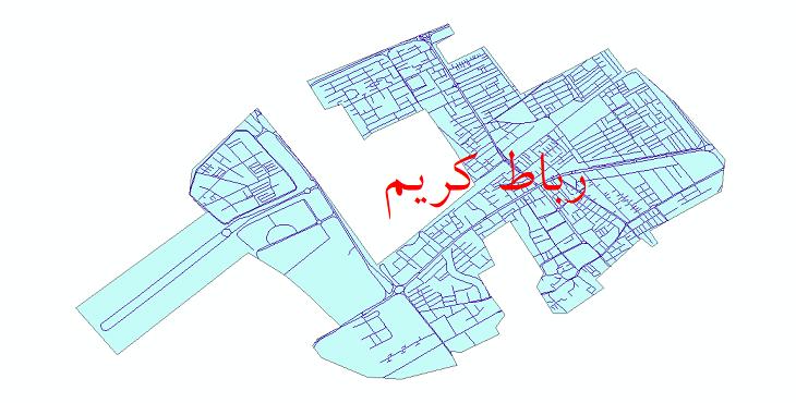 دانلود نقشه شیپ فایل شبکه معابر شهر رباط کریم سال 1399