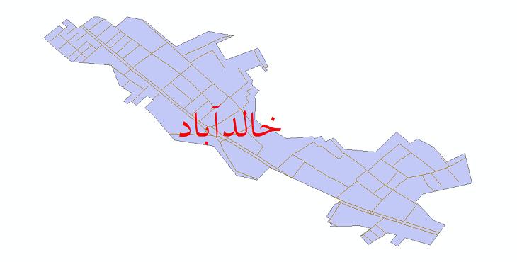 دانلود نقشه شیپ فایل شبکه معابر شهر خالدآباد سال 1399