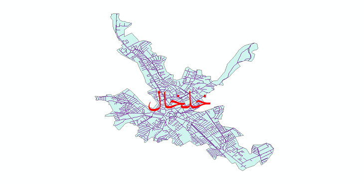 دانلود نقشه شیپ فایل شبکه معابر شهر خلخال سال 1399