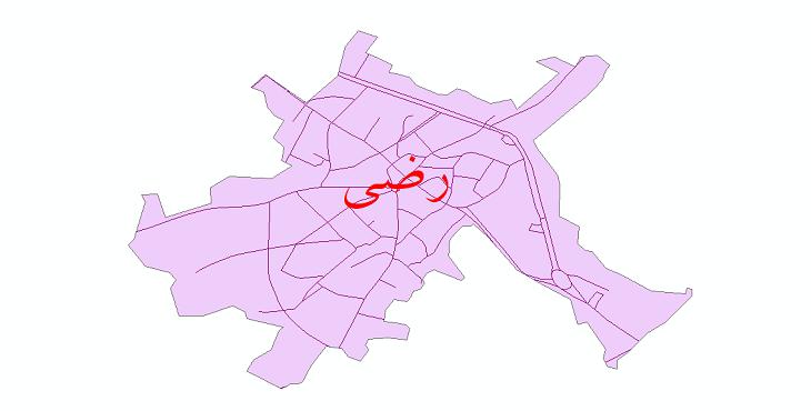 دانلود نقشه شیپ فایل شبکه معابر شهر رضی سال 1399