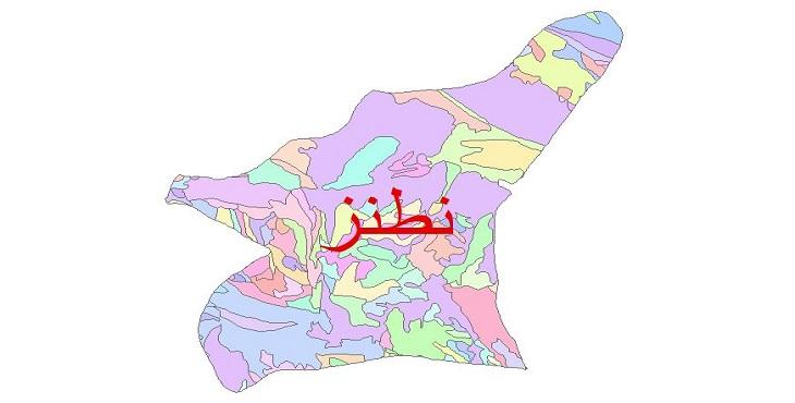 دانلود نقشه شیپ فایل زمین شناسی شهرستان نظنز