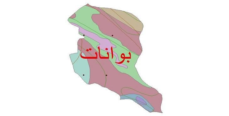 دانلود شیپ فایل اقلیمی شهرستان بوانات