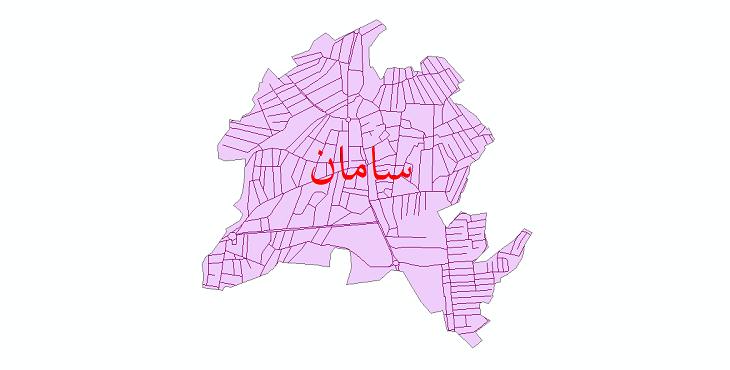 دانلود نقشه شیپ فایل شبکه معابر شهر سامان سال 1399