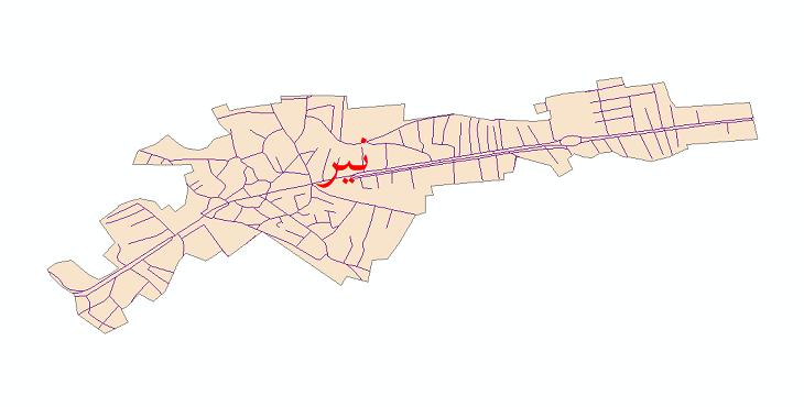 دانلود نقشه شیپ فایل شبکه معابر شهر نیر سال 1399